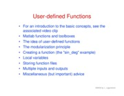 23. User-defined functions