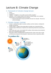 Lecture 8 Climate Change