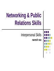 Networking & Public Relations Skills.ppt