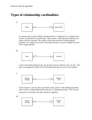 Types of relationship cardinalities important for interpretation