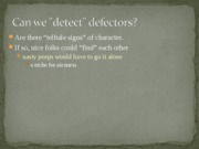Topic 6 Deception and Defection Detection for BLACKBOARD