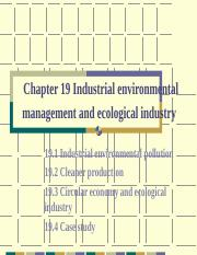 industrial ecology and cleaner production.ppt