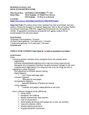 Final exam review guide Fall 2013