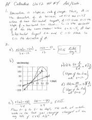 Calc Unit 2 HF 4 answers and solutions