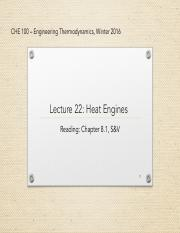lecture 22-Heat Engine