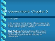 AP Chapter Five Notes Civil Rights