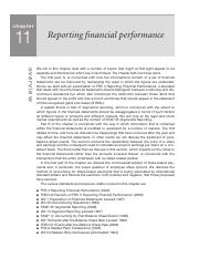 13. Chapter 11 - Reporting financial performance
