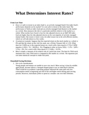 What Determines Interest Rates