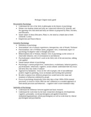 Prologue Chapter, Study Guide