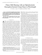 chaos shift keying encryption system using chaos