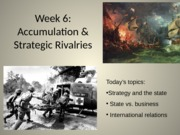 Strategy Week 6's Lecture