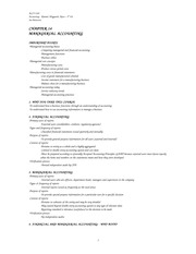 Accounting-5th ed - notes 14 Managerial Accounting