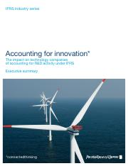 Accounting for innovation_PwC