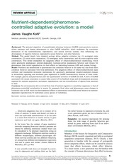 Nutrient-dependent - pheromone-controlled adaptive evolution - a model 20553-93430-2-PB