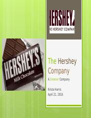 The Hershey Company Green Chemistry