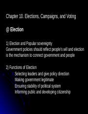 Chapter 10. Elections, Campaigns and Voting.ppt
