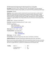 CEG 4012  Syllabus - Fall 2012