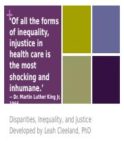 SOCW 300 Disparities and Inequality 9_20_16