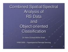 Lecture 8 i - Combined spectral spatial obj oriented