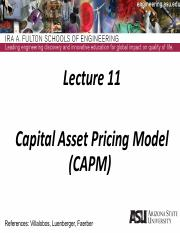 Lecture 11dm Capital Asset Pricing Model.pdf