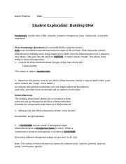 Gizmos - Name Brianna Date Student Exploration Building ...