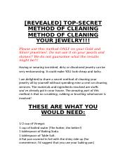 TOP-SECRET METHOD OF CLEANING METHOD OF CLEANING YOUR JEWELRY!!!.docx