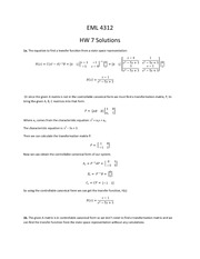 HW 7 solutions