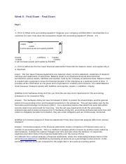 acct 301 week 3 homework
