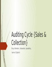 Auditing Cycle {Sales & Collection}