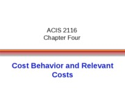 ACIS 2116 Chapter 4 Powerpoints