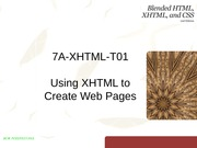 Week 7A-XHTML-T01