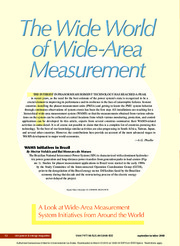 The wide world of wide area measurement magazine
