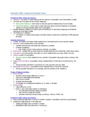 Economics 2B03 Updated Notes for Test One