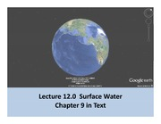 Lecture 12 Surface water Part 1