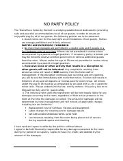 NO PARTY POLICY.docx