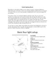 Lighting Handout
