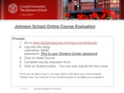 Johnson School Online DM Course Evaluation Fall 2010