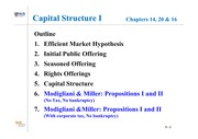 Lesson 3 - Capital Structure I