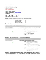 Chapter 7 Quizzes