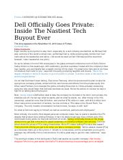 Dell goes private.docx