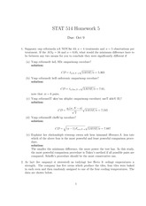 Stat 514 Midterm Homework Solutions
