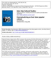 Beng Huat Chua - Conceptualizing an East Asian popular Culture