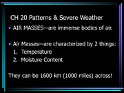 Patterns and Severe weather