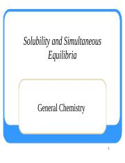 7. Solubilility Equilibria
