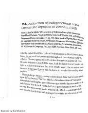 Declaration of Independence of the Democratic Republic of Vietnam