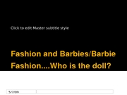 Lecture 12.Fashion and Barbies