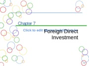 Chapter 7a Foreign Direct Investment