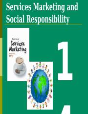 Week 14 - Services Marketing and Social Responsibility