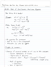 13-Simultaneous Non-linear Eq, Numerical Solutions of ODE, Euler,