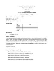 CIS420 - Network Design And Precurement_Syllabus_Spring_2015